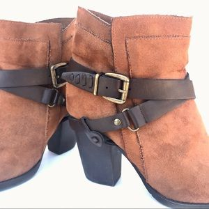 Double-Strap and Buckle Ankle Booties